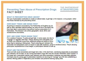 Preventing Teen Abuse of Prescription Drugs Fact Sheet 2draft - Cephalon sponsored