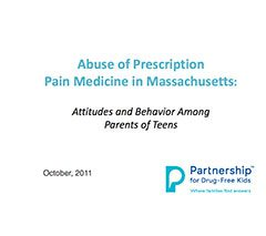 More Than Half of Massachusetts Kids Have Access to Abusable Prescription Drugs in their Homes