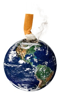 Globe with cigarette 8-17-12
