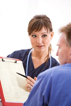 Nurse counseling patient 9-25-12