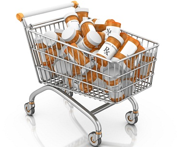 Shopping cart of pills 9-17-12