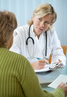Doctor counseling patient 10-23-12