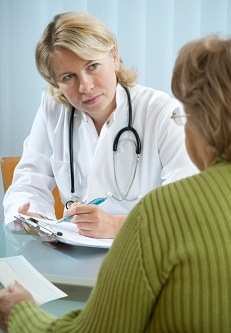 Doctor counseling patient
