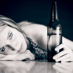 Young girl with Beer Bottle