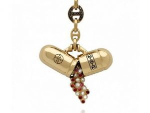 Damien Hirst pill-shaped jewelry