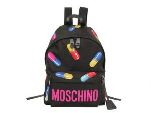 "Pill backpack from Moschino ""Capsule"" collection"