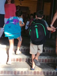 Back-to-School Survival Guide for Parents- kids with backpacks