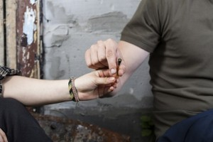 Smoking marijuana after school