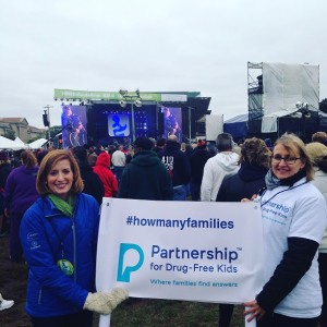 UNITE to Face Addiction Rally- Marcia Lee Taylor and Claire Kelly- Partnership for Drug-Free Kids