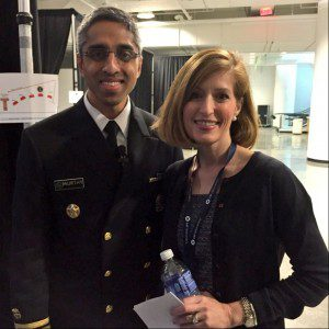 Marcia Lee Taylor and Dr. Vivek Murthy