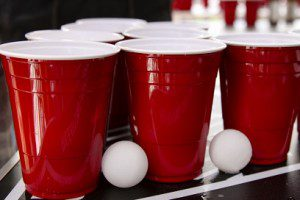 Beer Pong Party Cups in Red