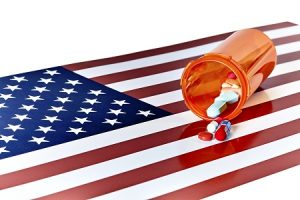 Prescription Medications with American Flag